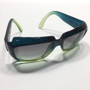 Armani turquoise and green oversized sunglasses
